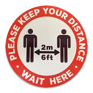 Buy 12 Inch Social Distancing Floor Stickers In Toronto